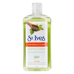 St Ives Naturally Clear Green Tea Cleanser 200ml $9.99. With 2% salicylic acid for acne prone skin with 100% natural soothing green tea.