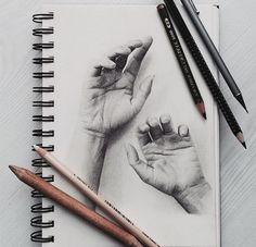 art, drawing, and hands Bild