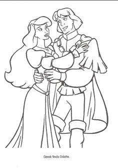 disney swan princess coloring pages - photo#33