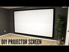 How to Build and Hang a Projector Screen - YouTube