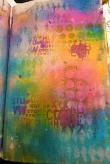 Background colour!! Dyan Reaveley, Dylusions art journaling inks, stamps, etc.