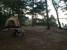 Our campsite, finally all set up!