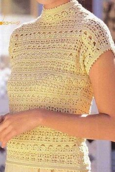 Кружевной топ крючком со схемами. Lace top with crochet patterns  