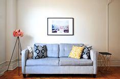 22 Alluring - Elegant Home Interior And Decor Ideas : Ineffable blue fabric loveseat Sofa Living, Living Room, Home Interior, Interior Design, Home Design, Interior Shop, Design Ideas, Apartment Interior, College Apartments