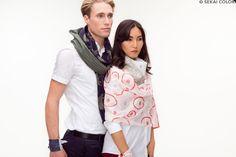 Hochwertige Designerschals für Damen und Herren von Sekai Colori mehr davon auf www.sekai-colori.de