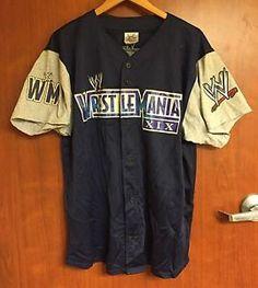 ☀Wrestlemania XIX Baseball Jersey XL☀52 WWE WWF NXT 19 Wrestling    eBay