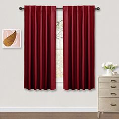 Heavyduty Blackout Window Curtains Panels PONY DANCE Moedern And Elegant  Back Tab And Rod Pocket Draperies For Home Decor42 X 54 InchRedOne Pair ***  Check ...