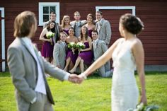 heres another fun wedding party photo i love this concept! Country Rustic Wedding from rusticweddingchic.com