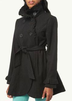 Ruffle Hem Coat   Coats   rue21