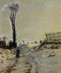 Armand GUILLAUMIN «Chemin creux, effet de neige»