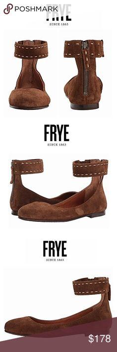 dd165a9366566 FRYE • italian suede ballet flat FRYE   shoes   flats   ballet slippers    brown