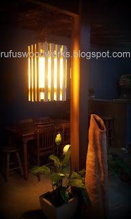Luminária artesanal feita com madeira reciclada de pallets. Curta nossa fan page www.facebook.com/pages/Rufus-Garage-Sale  e fique por dentro de nossas criações! #pallet #madeirareciclada #bricolagem