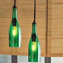 Wine Bottle Pendant Light