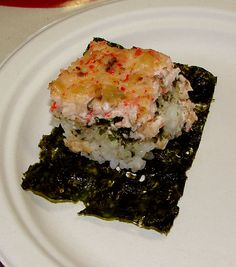 "Recipe: Crab & Shiitake Mushroom Sushi ""Casserole"" | Pomai Test Blog"