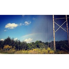 """""""I love this shot. I have rain rainbow and clear sky all in one."""" - Andrea Willmann in Innsbrook Mo. #STLWX #rainbow"""