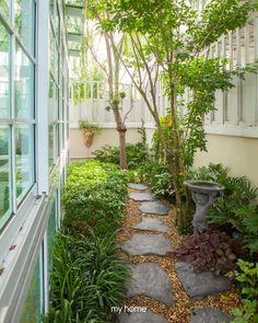 69 Trendy Home Garden Backyard Spaces Backyard Garden Design, Small Garden Design, Backyard Patio, Backyard Landscaping, Small Gardens, Outdoor Gardens, Balcony Plants, Side Garden, Beautiful Gardens