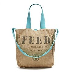 The same impact (two children fed for a year), just a bolder statement - the FEED 2 bag is now in color!