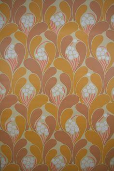 Funky Geometric Wallpaper with superb abstract flower pattern. A fabulous retro funky geometric wallpaper with great color combination. Space age wallpaper.