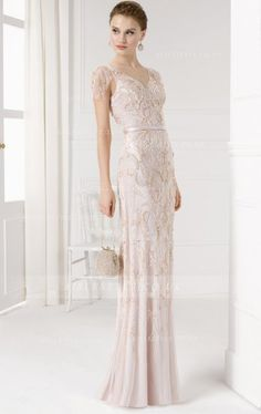 Aire Barcelona: Wedding dresses and evening gowns Pretty Prom Dresses, Tulle Prom Dress, Modest Dresses, Girls Dresses, Nye Dresses, Cocktail Dresses, Short Wedding Gowns, Wedding Bridesmaid Dresses, Bridal Gowns