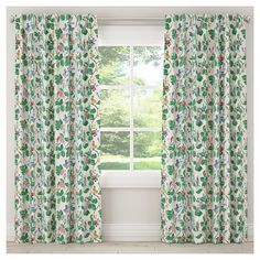 """Blackout Chinois Curtain Panel Multi-Colored (50""""x108"""")"""