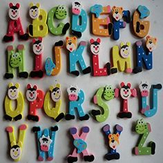 26pcs Wooden Cartoon Alphabet A-Z Magnets Child Educational Toy, Gbell //Price: $3.69 & FREE Shipping //