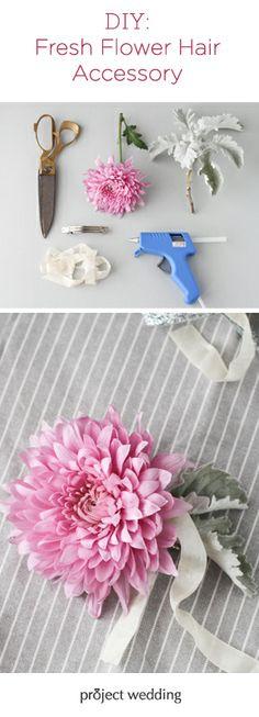 DIY Fresh Flower Hair Accessory!