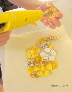 A great Tute on making a necklace with Vintage Jewelry... I have all my mother's old costume jewelry - can't wait to try this!  #VintageJewelry