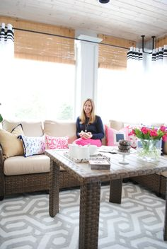 These screened in porch decorating ideas are great for anyone who wants to enjoy a year-round outdoor living area. Jennifer Bridgman of The Chronicles of Home created such an inviting outdoor living room for The Home Depot's Patio Style Challenge. See it on The Home Depot Blog. || @chrniclesofhome