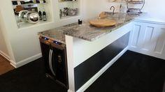 #Basement bar, #custom #winerack  #basementremodel #remodel #remodeling #cle #after #designbuild #basementideas #bar