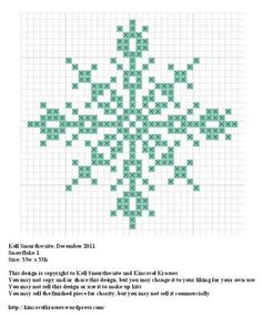 Snowflake cross stitch.