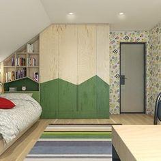 Dom pod Krakowem - przestrzeń zupełna, Projekt wnętrza mieszkalnego WERDHOME - homebook Attic Rooms, Wooden House, Baby Pictures, Kids Bedroom, Design Inspiration, House Design, Interior Design, Furniture, Home Decor