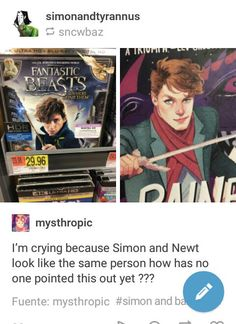 I know that's how simons like supposed to look, but I can't picture him like that. Baz is spot on tho