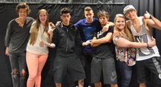 One Direction with fans:)