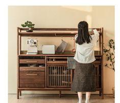 Asian Furniture, Home Decor Furniture, Furniture Design, Japanese Furniture, Timber Handrail, Armoire, Console Cabinet, Hanging Rail, Yanko Design