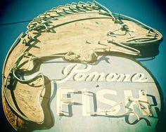 Fine Art Photography Pomona Fish Vintage Sign