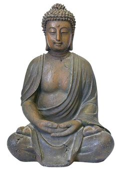 From Sius Two Beautifully Detailed Knee Buddhas Statue For The Home Or Garden
