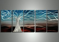 Find below more informations about this Metal Wall Art.  ART DIMENSION  Total Dimension : Inches : 60x24in Centimeters :150x60cm Reference : 1 Inch = 2.54 Centimeters - 1 Foot = 12 Inches - Frame thickness : 0.8 to 1.5 inches  This beautiful Art is an original Metal Wall Art th