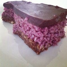 Raw Food Recipe – Cherry Ripe Slice