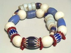 Dogon necklace 7 six layer Chevron wound moon by tribalgallery, $495.00
