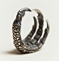 ANN DEMEULEMEESTER  SILVER CLAW RING