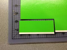 cut small piece to cover pen