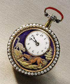 The Barking Dog Watch by Piguet & Meylan, Geneva, ca. 1810.  Estimate $70/100,000. Image courtesy Sotheby's.