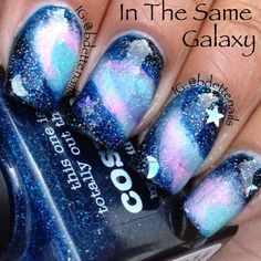 piCture pOlish 'Cosmos' galaxy mani creation by Bdette Nails!  Buy on-line now:  www.picturepolish.com.au