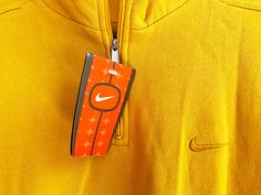 Vintage 90s Nike small Swoosh Sweatshirt yellow SIze S by VapeoVintage on Etsy