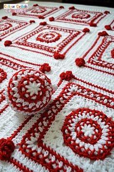 This Christmas crochet blanket pattern is a Scandinavian style afghan with bobble hearts and eight-pointed Nordic stars. Using worsted weight yarn I combine two bold red and white colors for maximum effect to instantly set the Christmas atmosphere. This free pattern includes a YouTube video tutorial. Matching Scandinavian style crochet baubles are available as a separate pattern. Christmas Crochet Blanket, Crochet Blanket Patterns, Knit Or Crochet, Free Crochet, Blanket Shawl, Scandinavian Style, Free Pattern, Christmas Crafts, Knitting
