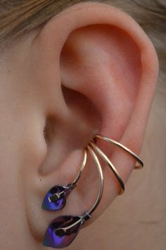 Ear Cuff Calla Lily Sterling Silver or Gold by ChapmanJewelry