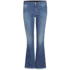 Stella Mccartney Distressed Flared Jeans ($520) ❤ liked on Polyvore featuring jeans