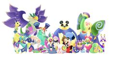 Sora, Riku, and the Spirits! I love the Dream Eaters!
