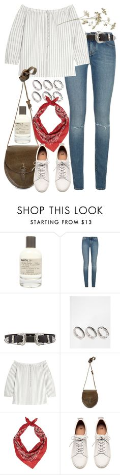 """Untitled #8982"" by nikka-phillips ❤ liked on Polyvore featuring Le Labo, Yves Saint Laurent, B-Low the Belt, ASOS, Madewell, Lucky Brand and H&M"