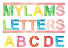 Alphabet Art Poster, Watercolor, Handmade Custom, Customizable, Children's Education,  Educational, Watercolour, Digital File by OrangePeelPaperie on Etsy